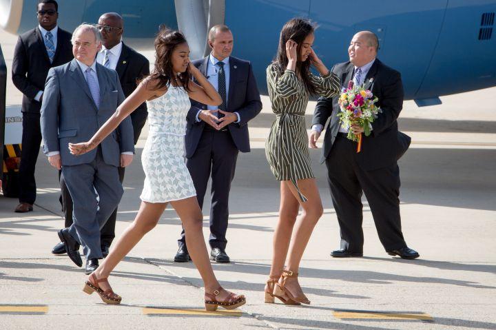 Sasha Obama Arrives in Spain, 2016