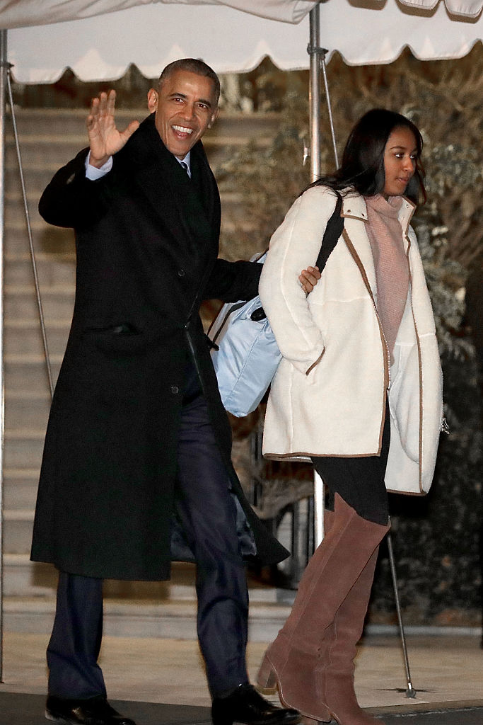First Family Departs White House For Holidays In Hawaii, 2016