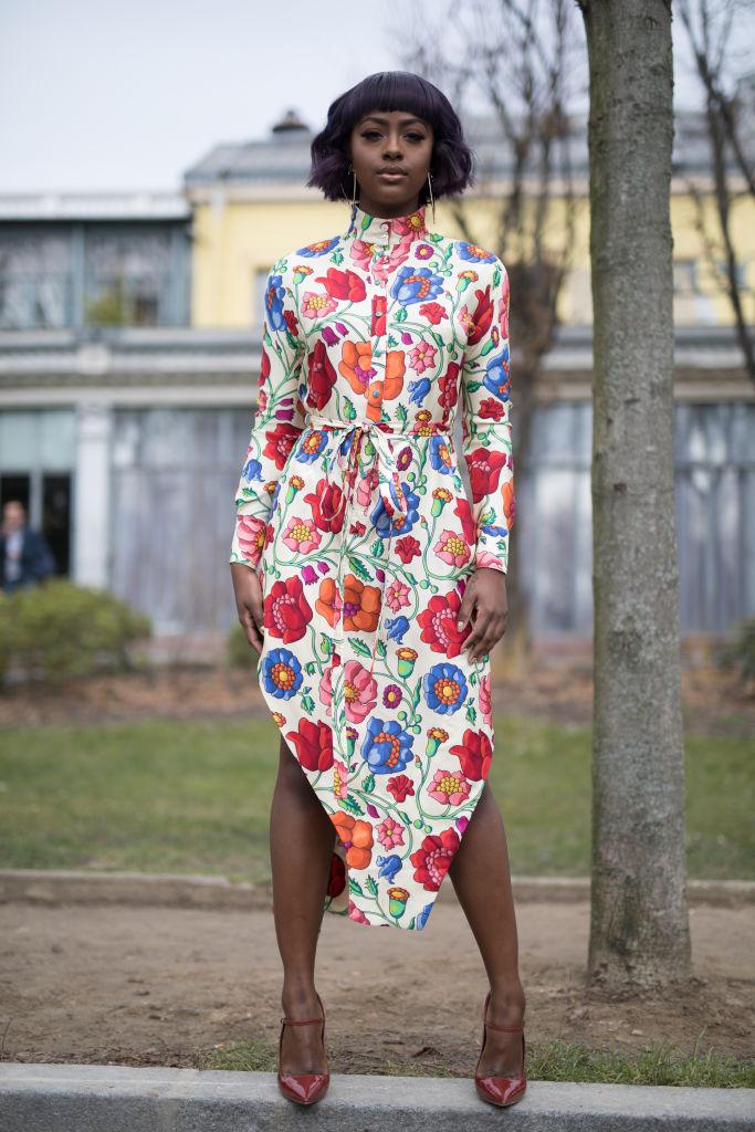 Justine Skye at Paris Fashion Week Womenswear Fall/Winter Show, 2018