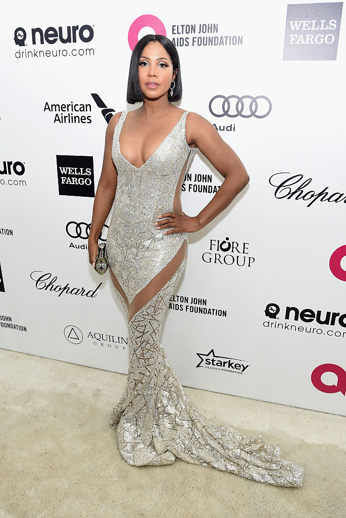 Toni Braxton at the 23rd Annual Elton John AIDS Foundation Academy Awards Viewing Party, 2015