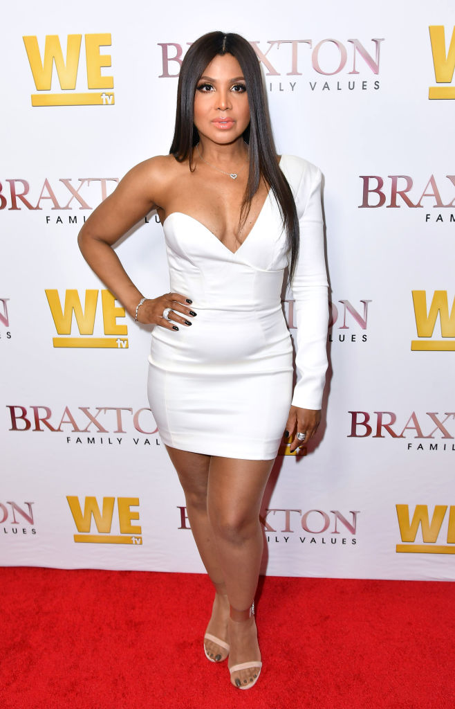 "Toni Braxton at the Premiere of ""Braxton Family Values,"" 2019"
