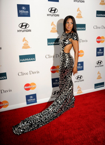Toni Braxton at the Clive Davis and The Recording Academy's Pre-GRAMMY Gala, 2012