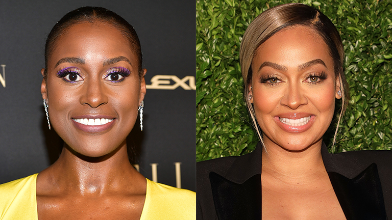 Split Featured Image of Issa Rae and La La Anthony