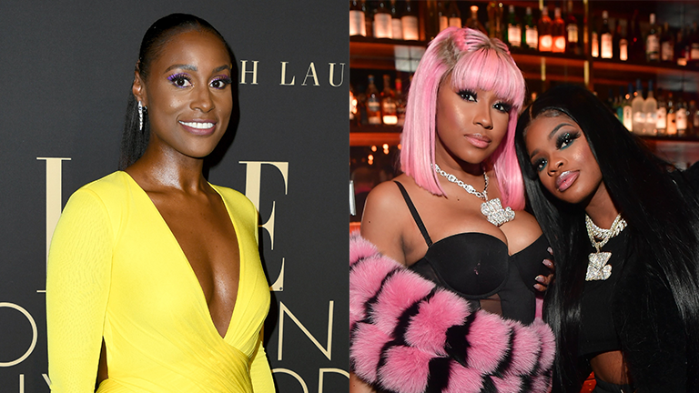 Featured Split Image Issa Rae and City Girls