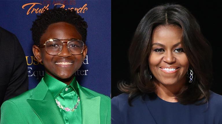 Featured Split Image Zaya Wade and Michelle Obama